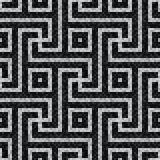 Geometric black and white mosaic seamless pattern in antique roman style. Illustration - eps 10 royalty free illustration