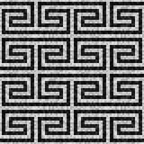 Geometric black and white mosaic seamless pattern in antique roman style. Vector illustration - eps 10 royalty free illustration