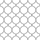 Geometric black and white openwork lattice Stock Photography