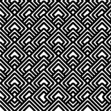 Geometric black & white pattern Royalty Free Stock Photo