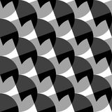 Geometric black and white pattern / background. Seamlessly repea. Table. - Royalty free vector illustration Stock Photo