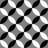 Geometric black and white pattern / background. Seamlessly repea. Table. - Royalty free vector illustration Royalty Free Stock Photo