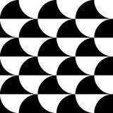 Geometric black and white pattern / background. Seamlessly repea Royalty Free Stock Images