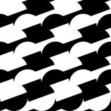 Geometric black and white pattern / background. Seamlessly repea Stock Photo