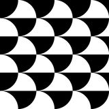 Geometric black and white pattern / background. Seamlessly repea Stock Photos