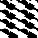 Geometric black and white pattern / background. Seamlessly repea Royalty Free Stock Photography