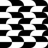 Geometric black and white pattern / background. Seamlessly repea. Table. - Royalty free vector illustration Stock Images