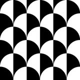 Geometric black and white pattern / background. Seamlessly repea. Table. - Royalty free vector illustration Stock Photography