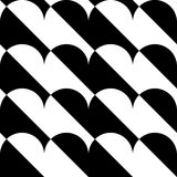 Geometric black and white pattern / background. Seamlessly repea. Table. - Royalty free vector illustration Stock Photos