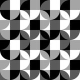 Geometric black and white pattern / background. Seamlessly repea. Table. - Royalty free vector illustration Royalty Free Stock Image
