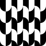 Geometric black and white pattern / background. Seamlessly repea. Table. - Royalty free vector illustration Royalty Free Stock Photography