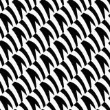 Geometric black and white pattern. Seamlessly repeatable. Stock Photography