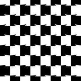 Geometric black and white pattern. Seamlessly repeatable. Royalty Free Stock Photography