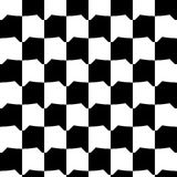 Geometric black and white pattern. Seamlessly repeatable. Royalty Free Stock Photos