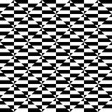 Geometric black and white pattern. Seamlessly repeatable. Stock Photo