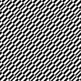 Geometric black and white pattern. Seamlessly repeatable. Royalty Free Stock Image