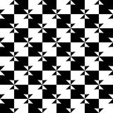 Geometric black and white pattern. Seamlessly repeatable. Stock Photos