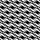 Geometric black and white pattern. Seamlessly repeatable. Royalty Free Stock Images