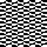 Geometric black and white pattern. Seamlessly repeatable. Stock Image