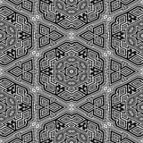 Geometric black and white seamless pattern. 3d boxes repeat background Stock Photos