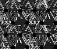 Geometric black and white seamless pattern, endless Stock Photography