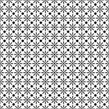 Geometric black and white seamless pattern Stock Photos