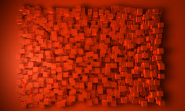 Geometric block background in orange Royalty Free Stock Photography