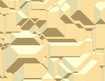 Geometric Blocks Pattern. Three Dimensional Geometric Blocks Pattern Royalty Free Stock Images