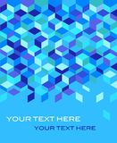 Geometric blue background. 3d blue abstract background -  illustration Royalty Free Stock Images