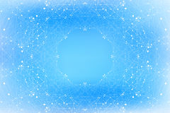 Geometric blue background molecule and communication . Connected lines with dots. Vector illustration Stock Image