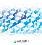 Geometric Blue Backgrounds. royalty free stock images