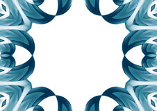 Geometric blue border Royalty Free Stock Images