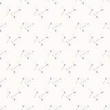 Geometric blue flowers gray simple seamless abstract pattern Stock Photo