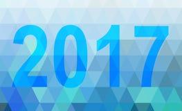 Geometric blue low poly 2017 Stock Photos