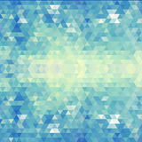 Geometric blue pattern. Vector illustration. EPS 10 Stock Photo