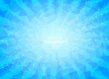 Geometric blue Polygonal background molecule and communication. Connected lines with dots. Minimalism background. Concept of the s. Cience, chemistry, biology vector illustration