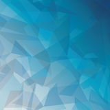 Geometric blue tones background patterns icon Royalty Free Stock Photos