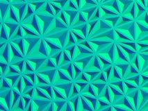 Geometric blue triangle poligon wall background Stock Photos
