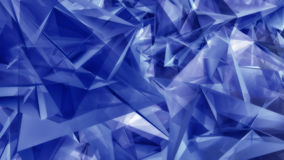 Geometric blue triangular shapes. Abstract background pattern of randomly jumbled geometric blue triangular shapes in multiple orientations Royalty Free Stock Photography