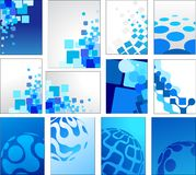 Geometric blue vector backgrounds Royalty Free Stock Photos