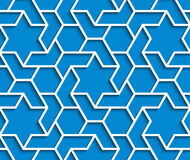 Geometric blue and white background with outline extrude effect Royalty Free Stock Images