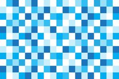 Geometric blue and white square abstract background vector. Easy design Royalty Free Stock Photography