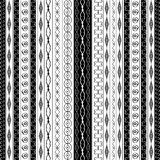 Geometric border patterns in black and white Stock Photography