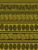 Geometric borders - seamless pattern. Hand draw geometric borders styled like aboriginal primitive art Stock Image