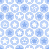 Geometric boys kids circles and stars seamless pattern on white Stock Photos