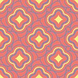 Geometric bright multi colored seamless background. Blue and beige elements on orange background. Design for wallpapers and fabrics Stock Photos