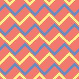 Geometric bright multi colored seamless background. Blue and beige elements on orange background. Design for wallpapers and fabrics Royalty Free Stock Photo
