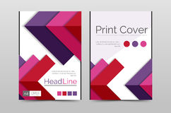 Geometric brochure front page stock illustration