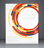 Geometric brochure, leaflet, magazine cover. Or a web site page Stock Image