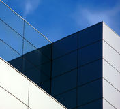 Geometric building. Contemporary architecture - view of geometric building Royalty Free Stock Photography